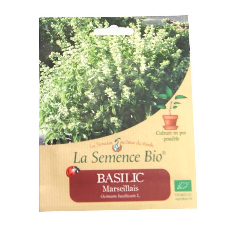 Graines Bio - Basil from Marseille (150 seeds)