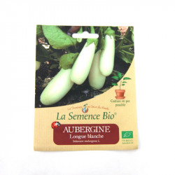 Graines Bio - Aubergine Longue Blanche