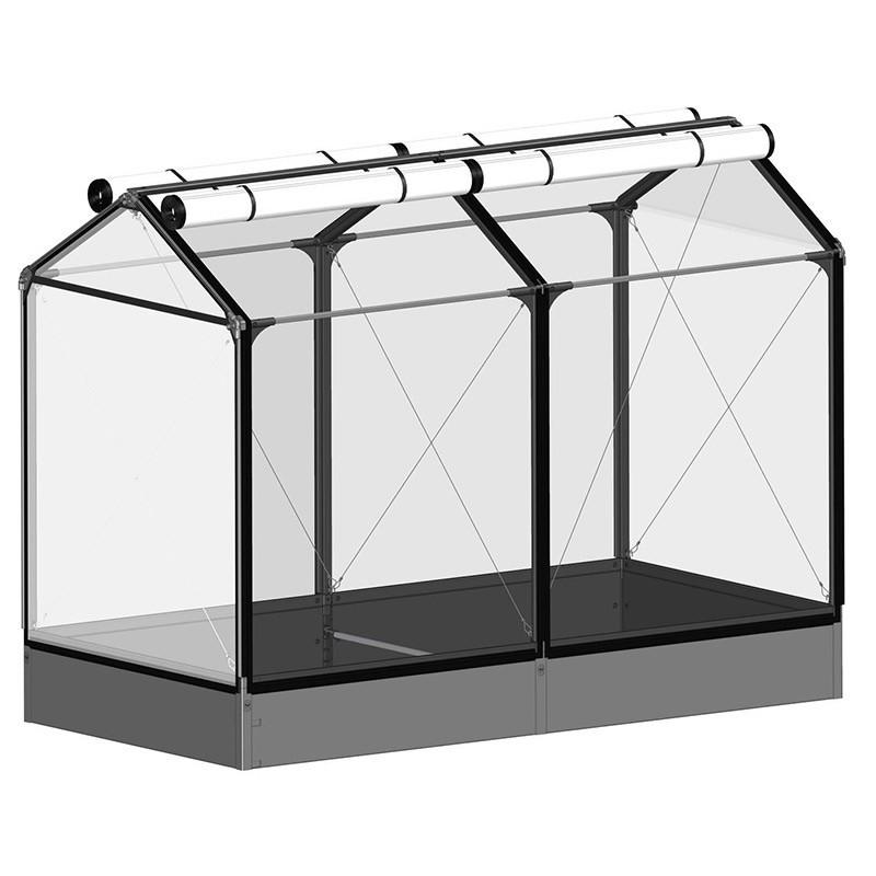 GrowCamp Tall Air Basic 30cm raised vegetable garden with greenhouse - 120x240x180cm
