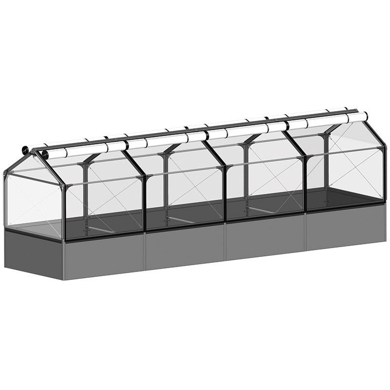 Raised vegetable garden GrowCamp Tall Air Basic 50cm with greenhouse - 120x480x150cm