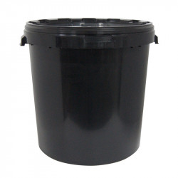 BUCKET BLACK WITHOUT HANDLE 32L DIAM. 38 + COVER