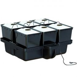 système aéroponique Platinium Aero Pro 80X80 - 6 Pots Bato 11L En Plaque 1 Trou Mj1000